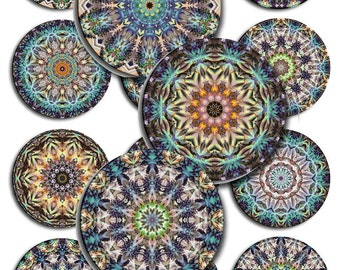 Mandala Round Instant Download 1,1.5,2 Inch JPEG (A-28P)