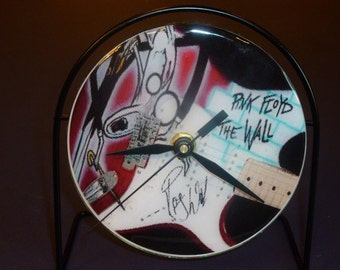 Pink Floyd The Wall  Recycled CD Clock Art