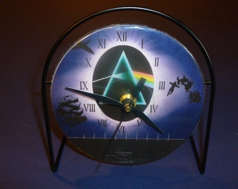 Dark Side Of The Moon Recycled CD Clock Art