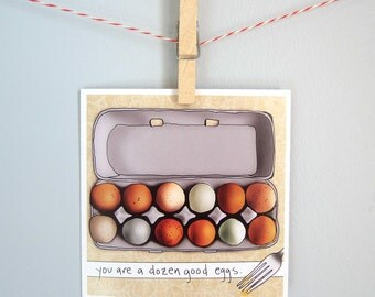 """Congratulations card, achievement card, thank you note, birthday, any occasion, you're a mensch card, """"Good egg"""""""
