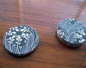 Black & White Paisley Envelope Stickers (24) Wedding Seals