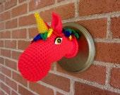 Sandra the Unicorn -- Rainbow and Red