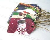 Recycled Holiday Gift Tags Assortment / Upcycled Christmas Cards / Eco-friendly Variety Mix