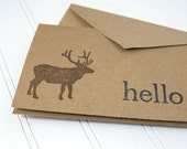 Hello Elk Card Set, Woodland Notecard Set, Eco-friendly
