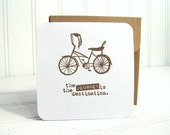 Retro Bike Notecard Set, Mini cards with envelopes, blank cards, journey is the destination