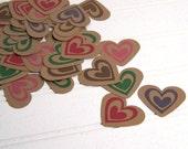 Heart confetti, Heart cut outs, Eco-friendly Scrapbooking embellishments
