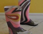 60s Psychedelic Emilio Pucci Rain Boots