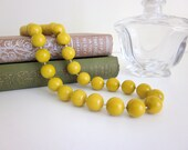 Mod Yellow Necklace, Mustard Yellow Necklace