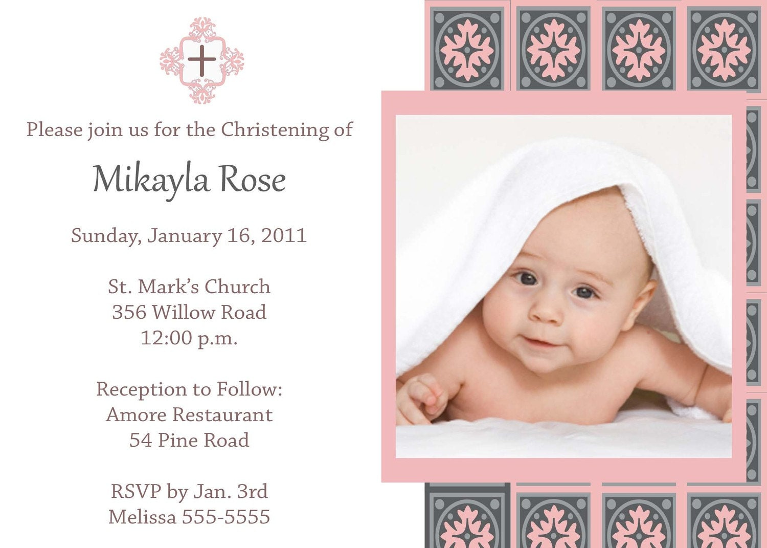 Birthday Baptism Invitation Wording was best invitation layout