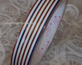 Deco Tape Kawaii Stripes of Red White and Blue 15m