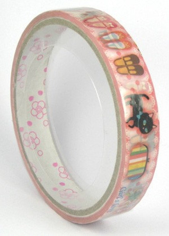 Decotape Kawaii Girls love... Pink 15m