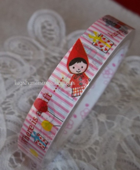 Kawaii Decotape Little Red Riding Hood and Her Friend the Wolf 15m
