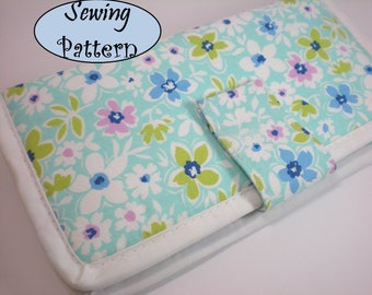 Bi-fold Clutch wallet purse Tutorial ( sewing pattern PDF Ebook ) No.2