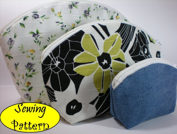 Cosmetic Toiletry Pouch Box Bag Tutorial ( sewing pattern Ebook ) No.1