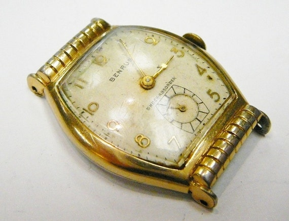 Vintage Benrus Men's Wrist Watch Swiss