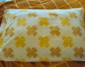 Vintage Pillowcase with Yellow Stars
