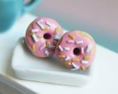 Miniature food - Donuts stud earrings hypoallergenic (Surgical Steel)