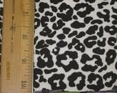 Black Cheetah Print - White Ponte de Roma Knit fabric