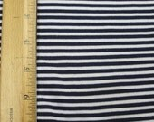 "1/8"" Navy Blue & White STripe Knit FAbric"