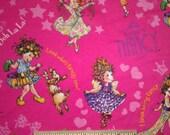 Cute Pretty Girl Baby Rib Cotton Knit Fabric