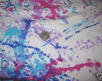 Summer Fun Purples & Blues and Pinks Paint Splatter Knit Fabric