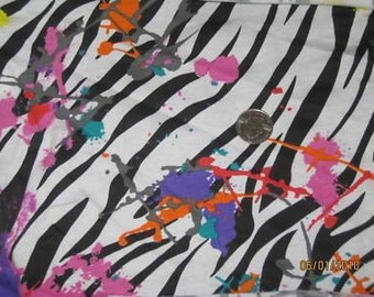 Gorgeous Paint Splatter Zebra Cotton Lycra Knit fabric