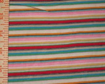 My Pretty Rainbow Stripes knit fabric