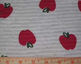 Cute Apples on Stretch Cotton Jersey knit fabric