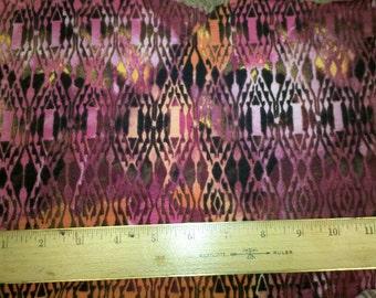 Purple, Pinks Brown Tribal Tie Dye Polyrayon Lycra