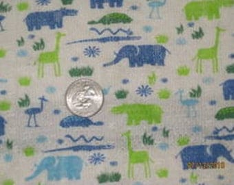 Animal Safari Thermal KNit fabric