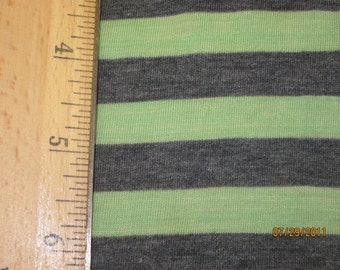 "Mint Green & Dark heather Grey 3/8"" Stripe Knit"