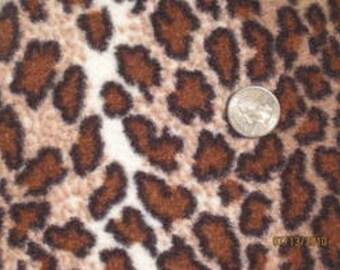 Brown Cheetah Polar Fleece/Boucle