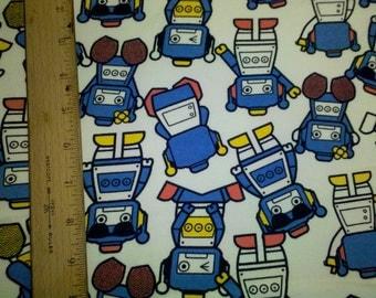import Cute Blue Robots - Cotton Fleece