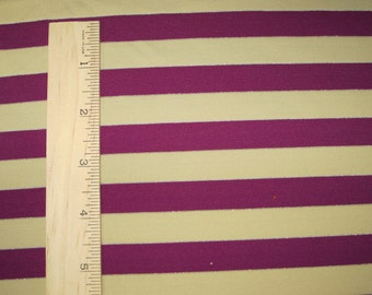 "Apx. 1/2"" Purple & Nude Sparkle Lurex Nylon Spandex Stripe Knit FAbric"