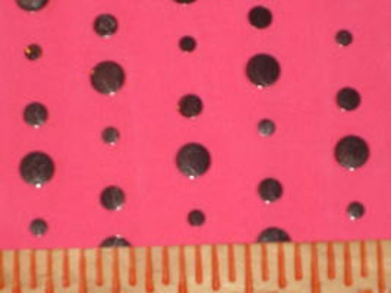 Hot PInk with Silver Foil Sequins Poly Lycra stretch fabric