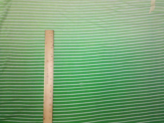 Dip Dye Ombre Greens  Stripe Knit - By the Panel - Knit FAbric