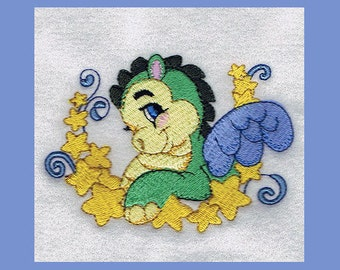 Baby Dragon 3, 2 Sizes - Machine Embroidery