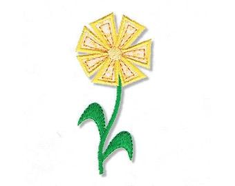 Garden Flower Applique, 2 Sizes - Machine Embroidery