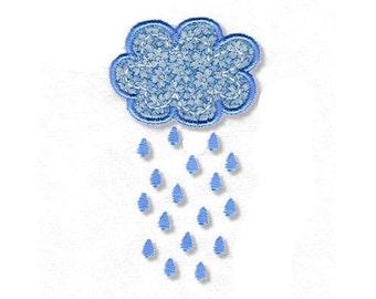 Raincloud Applique, 2 Sizes - Machine Embroidery