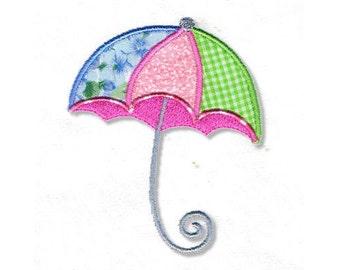 Umbrella Applique, 2 Sizes - Machine Embroidery