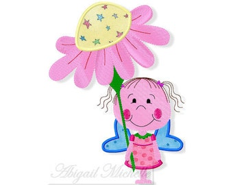 Flower Fairy Applique - 3 Sizes, Machine Embroidery
