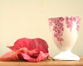 Vintage French Egg Cup - Pretty in Pink - Shabby Chic