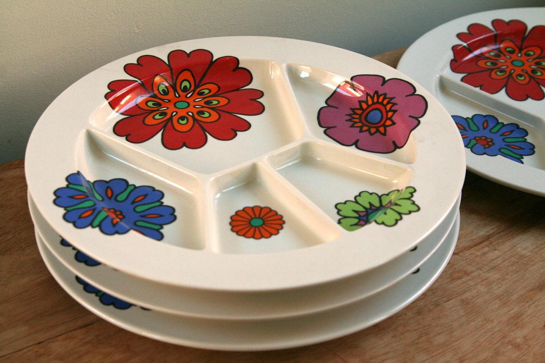 Vintage villeroy boch fondue plates colourful retro for Villeroy boch sale