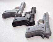 3 sets of Gun Soaps - vegan soap - guy gift - man soap