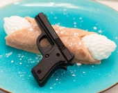 Gun & Cannoli Soap  - Man gift set -  food soap - Guy gift - Italian Soap - Featured on Glamour.com - Sweet buttercream and cinnamon