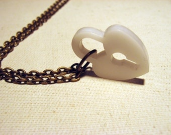 Be Mine White Heart Necklace