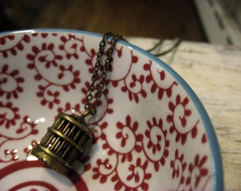 A Simple Birdcage Necklace