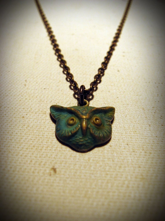 Patina Mr. Owl Necklace