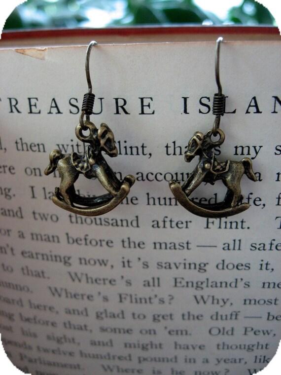 Tiny Rocking Horse Earrings