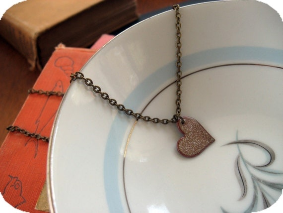 Enameled Love Necklace